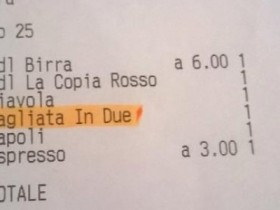 MAURIZIO CANETTA RSI SCONTRINO TAGLIARE PIZZA DUE EURO