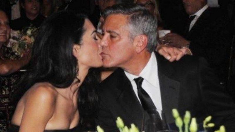 Luna di miele sotto la pioggia per George Clooney e Amal