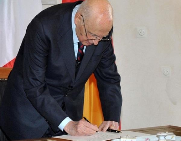 Napolitano ha firmato la legge di Stabilità