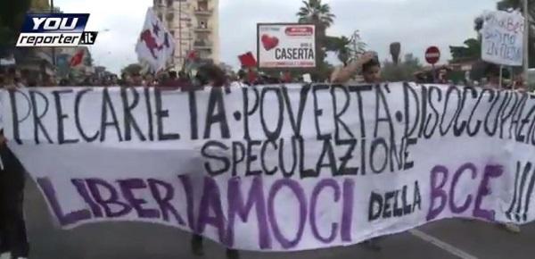 "Bce a Napoli, Draghi: ""Servono le riforme"" <u><b><font color=""#343A90"">/FOTO</font></u></b>| Scontri tra polizia e ""Block Bce"" <u><b><font color=""#343A90"">/VIDEO</font></u></b>"