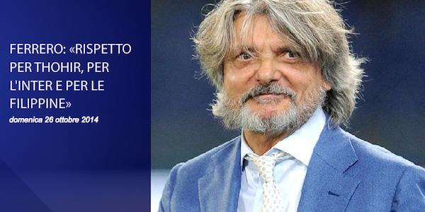 """Massimo Ferrero su Moratti: """"Gli dissi di cacciare quel filippino dall'Inter"""""""