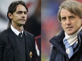 Inzaghi, Mancini, Milan-inter, risultato Milan-Inter, Serie A
