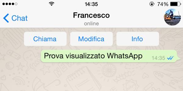 """WhatsApp si aggiorna: ecco il """"visualizzato"""" con i segni di spunta blu"""