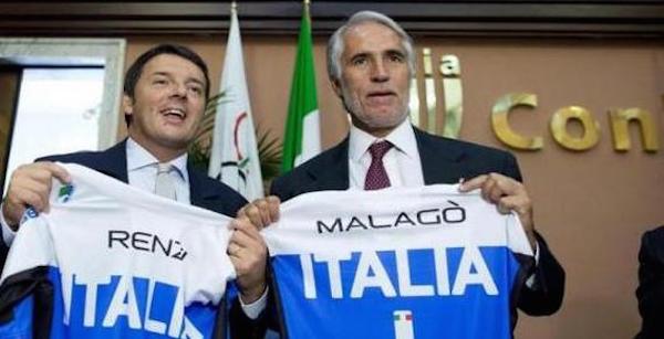 """Roma, Malagò punta alle Olimpiadi del 2024: """"Renzi ci potrebbe supportare"""""""