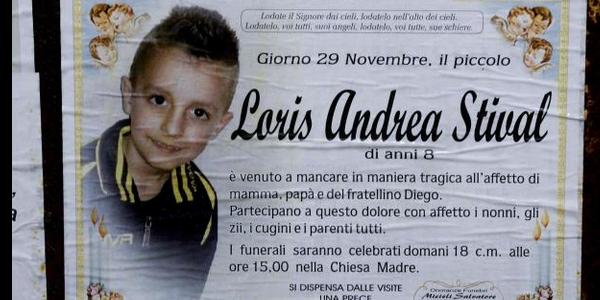 Loris, il 29 novembre una cerimonia a scuola | Una targa per ricordarlo davanti alla sua classe