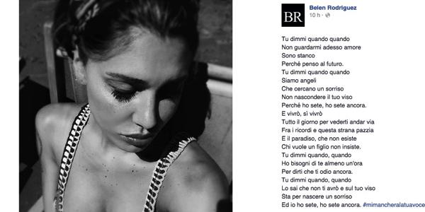 Belen Rodriguez ricorda Pino Daniele con una foto troppo hot. E gli utenti insorgono
