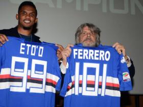 Samuel Eto'o, Eto'o, Serie A, calcio, presentazione Eto'o, conferenza Eto'o, Samp