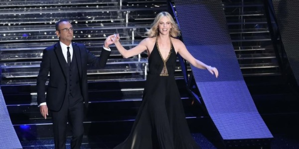 """Sanremo 2015, l'intervista a Charlize Teron /<u><b><font color=""""#343A90"""">VIDEO</font></u></b>"""