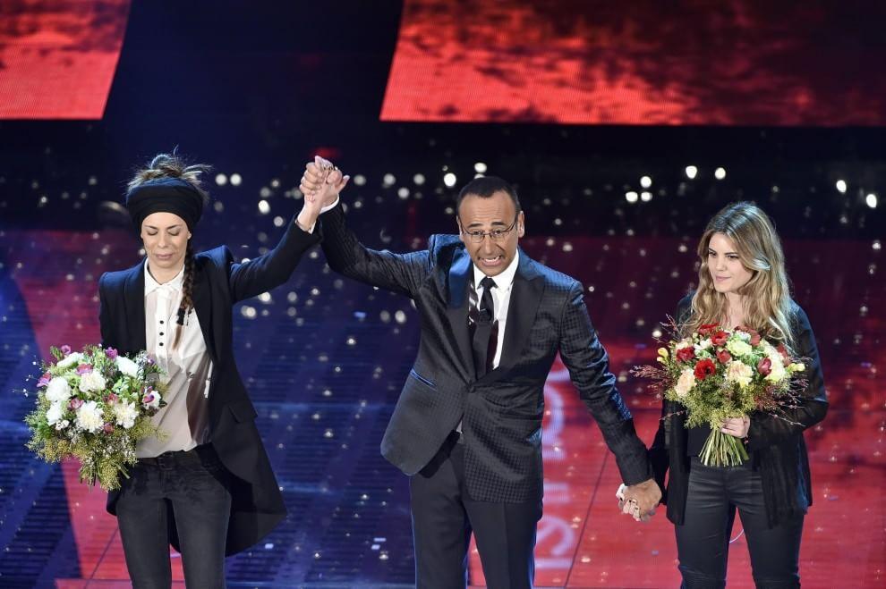 Sanremo 2015, la gaffe di Carlo Conti tra Amara e Rakele