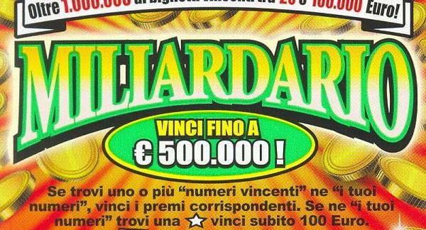 Gratta e vinci da 500 mila euro a S. Margherita Belice