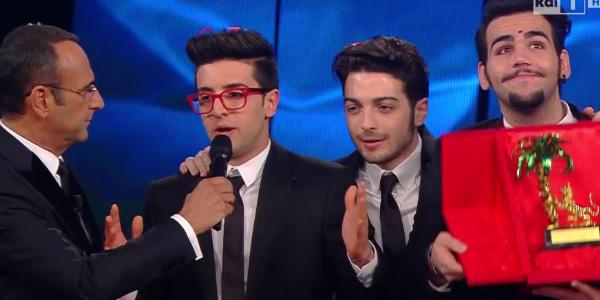 Sanremo 2015, vince Il Volo con Grande amore. A Nek e Malika i premi di critica e stampa