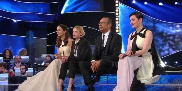 Sanremo 2015, tutti pazzi per Charlize Theron | Moreno e Anna Tatangelo a rischio eliminazione