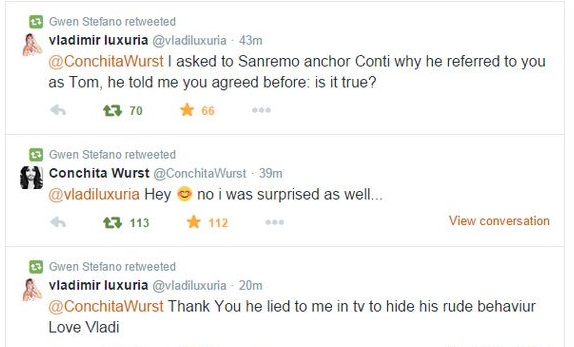 """Conchita Wurst a Sanremo, Luxuria contro Carlo Conti: """"Maleducato!"""""""