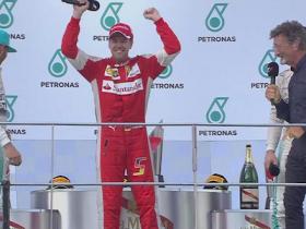 f1, ferrari, Formula 1, Formula uno, Gran Premio Malesia, malesia, Sebastian Vettel, Sepang, trionfo Vettel, vettel, vittoria Vettel