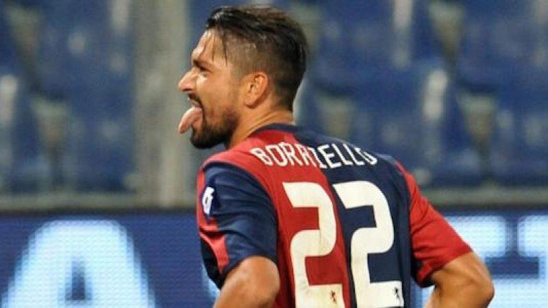 Cagliari, infortunio per Borriello. A rischio per la trasferta di Empoli