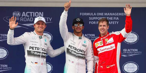"GP Cina, Vettel sorride: ""Tre podi su tre, sono felice"". Hamilton gongola: ""Week-end tranquillo"""