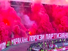 belgrado, derby di Belgrado, derby Partizan-Stella Rossa, feriti derby di Belgrado, Partizan, Partizan-Stella Rossa, scontri derby di Belgrado, scontri Partizan-Stella Rossa, Stella Rossa