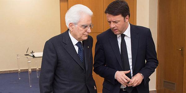 """Mattarella frena sul voto senza legge elettorale   Renzi: """"O il governo di responsabilità o le urne"""""""