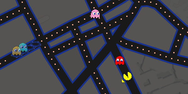 Il pesce d'aprile di Google Maps: Pac-Man invade le strade