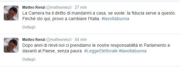 """Italicum, Renzi avanti """"senza paura"""""""