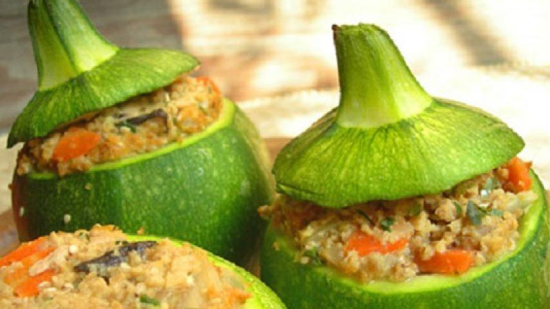 La ricetta delle zucchine rotonde ripiene