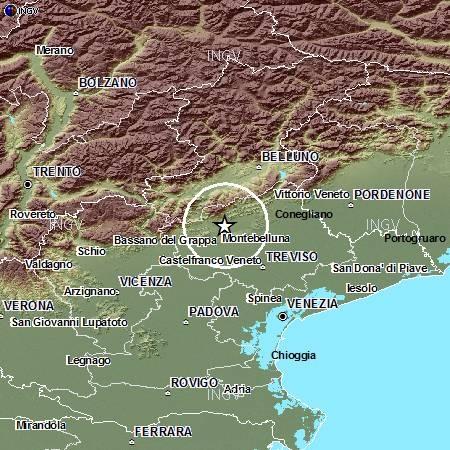 Terremoto in provincia di Treviso | Scossa di 3.5 gradi, paura ma nessun danno