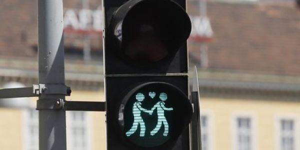 Vienna, i semafori diventano… gay per l'Eurovision Contest