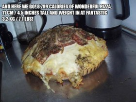 pizza piu calorica del mondo