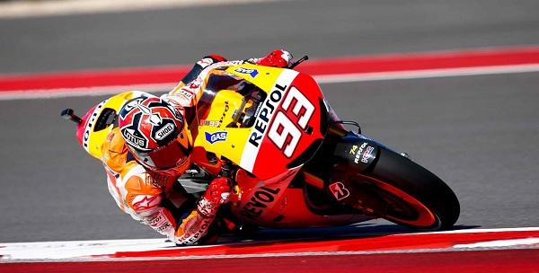 MotoGP, Aragona: Marquez cade ma la pole è sua | Secondo Lorenzo, terzo Iannone. Rossi è solo sesto