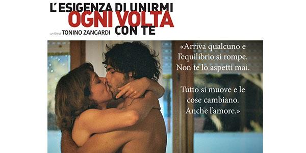 """Una passione travolgente tra Marco Bocci e Claudia Gerini al cinema con """"L'esigenza di unirmi ogni volta con te"""" /VIDEO"""
