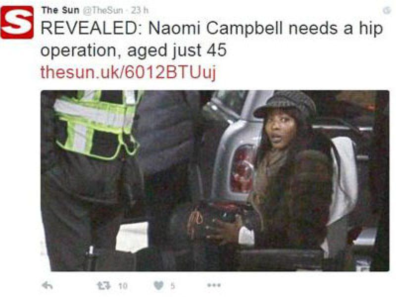 Naomi Campbell Sulla Sedia A Rotelle Il Dramma Della