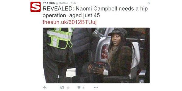 Naomi campbell sulla sedia a rotelle il dramma della for Film sedia a rotelle