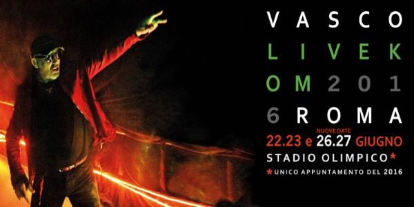 Vasco Rossi raddoppia ancora le date dei live romani