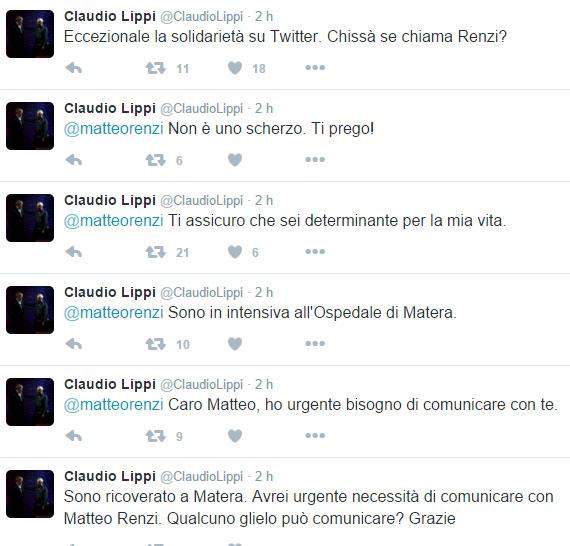 Il mistero di CLAUDIO LIPPI e del tweet a MATTEO RENZI