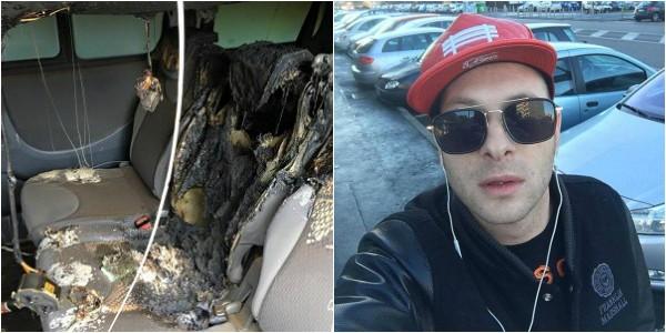 Napoli, bruciata l'auto al rapper Clementino:
