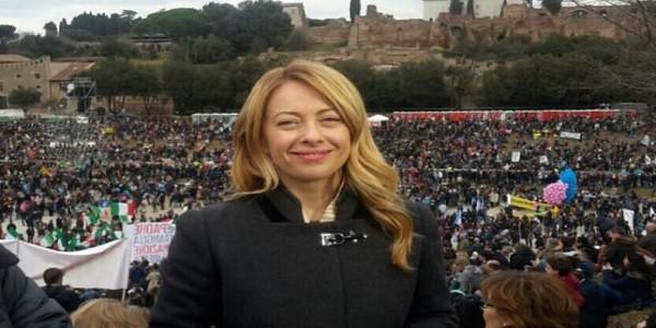 Giorgia Meloni Family day annuncio