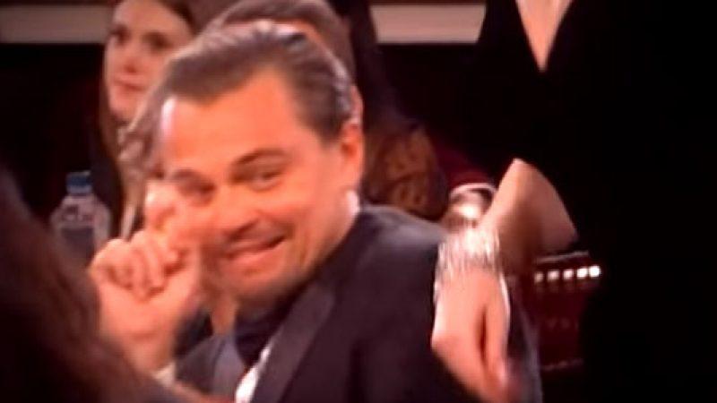 Golden Globes: Lady Gaga urta Leonardo DiCaprio, la sua reazione è esilarante /VIDEO