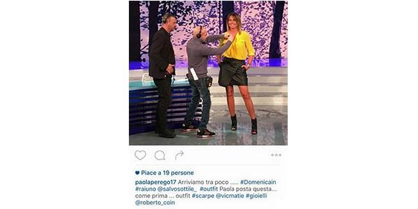 Lo scivolone di Paola Perego su Instagram