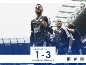 leicester batte manchester city, leicester manchester city 3 a 1, claudio ranieri primo in premier league, premier league leicester primo batte city