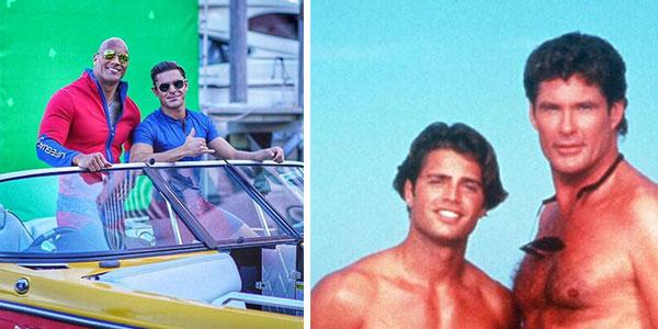 Baywatch le foto di Zac Efron e Dwayne Johnson sul set
