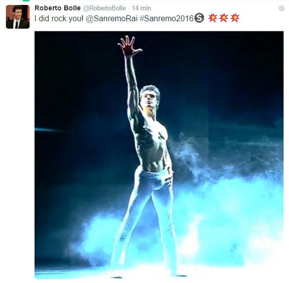 Sanremo 2016, Roberto Bolle apre la serata finale /VIDEO Si24