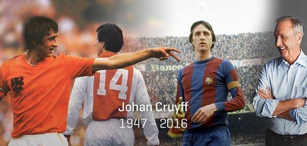 """Il mondo del calcio piange Johan Cruijff: """"Addio leggenda, ti ameremo per sempre"""""""