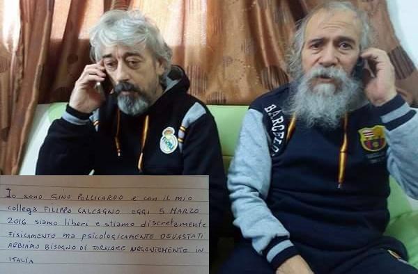Calcagno e Pollicardo: Tripoli gela l'Italia   I due italiani verranno rilasciati domani