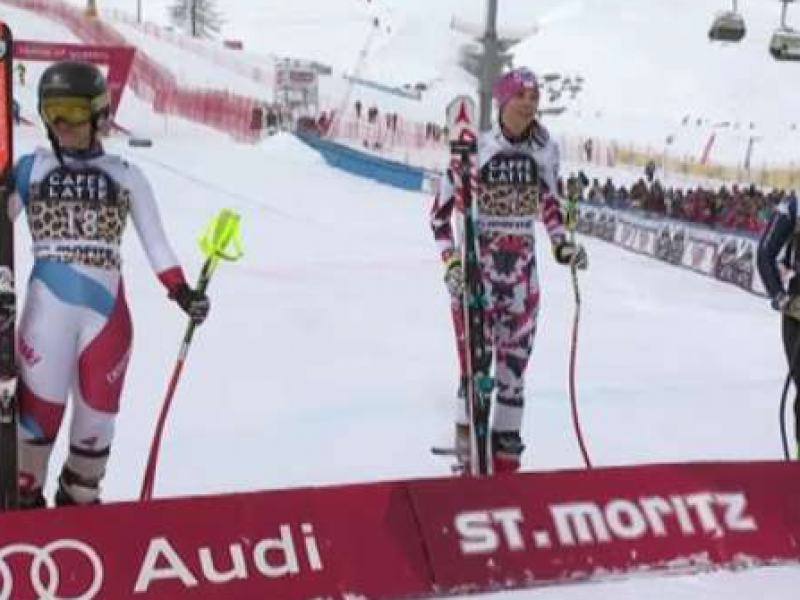 Elena Curtoni, St. moritz, discesa libera Sci, Curtoni podio, Lindsey Vonn, Lara Gut, Daniela Merighetti, ritiro Merighetti