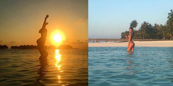 Gossip: Belen vola alle Maldive, il VIDEO mentre nuota è decisamente hot!