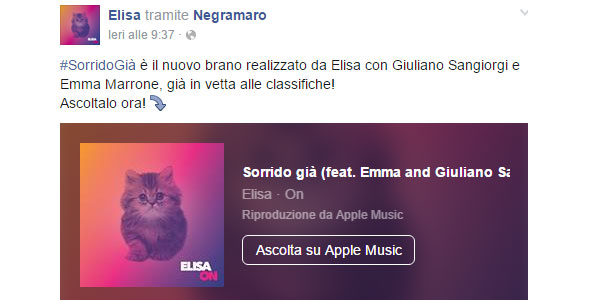 """Il testo di """"Sorrido già"""" il nuovo singolo di Elisa con Emma e Giuliano Sangiorgi"""