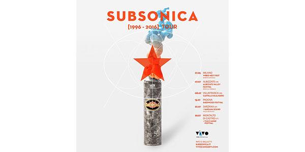 Subsonica, parte il tour per festeggiare i 20 anni di carriera