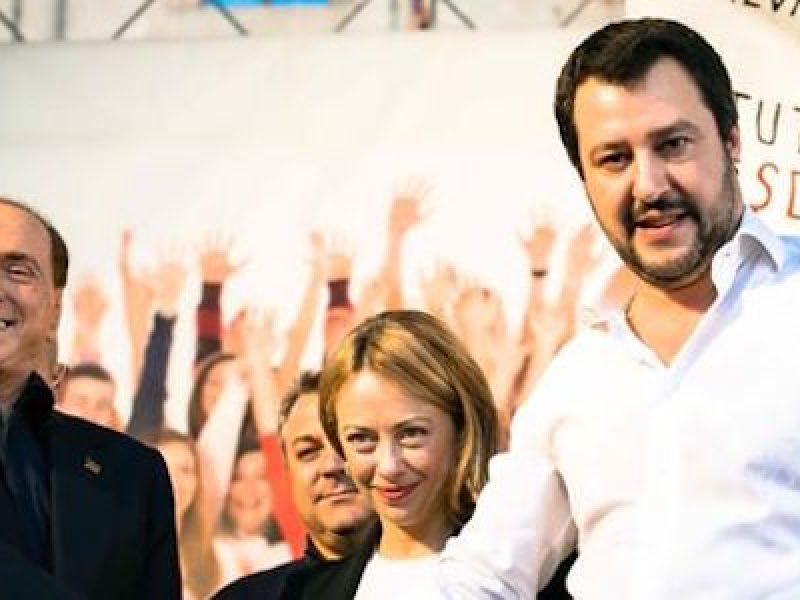 Berlusconi leader centrodestra, berlusconi salvini, di maio salone del mobile, governo centrodestra, Salvini Di Maio