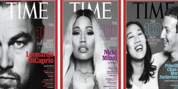Time, Di Caprio e coniugi Zuckerberg in copertina: anche loro tra le 100 persone più influenti del 2016