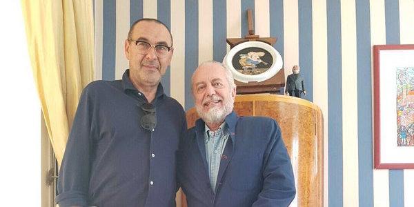 """De Laurentiis: """"Napoli di Sarri da record. Col City vorrei vedere del turnover"""""""